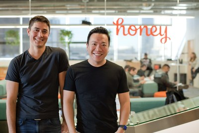 Left to right: Honey Co-Founders Ryan Hudson and George Ruan.