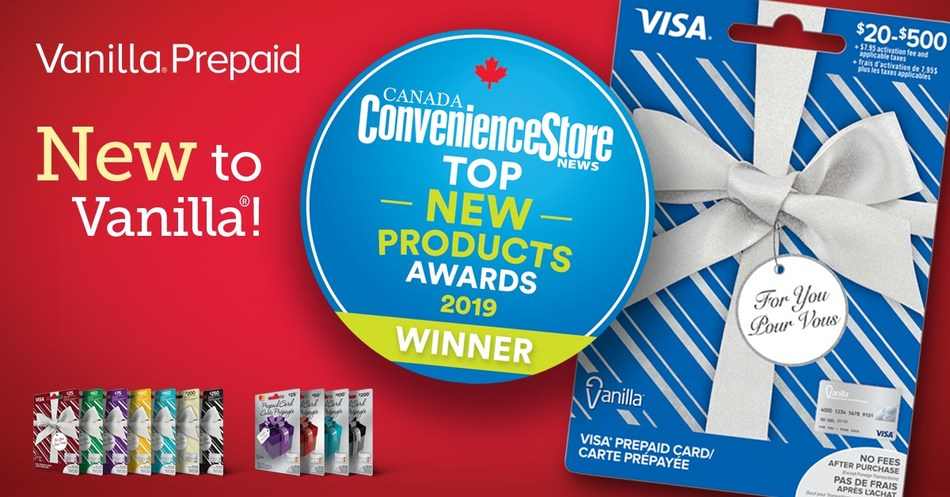 Vanilla® Prepaid Named Top New Product by Convenience Store News Canada