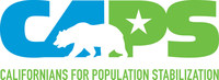 CAPS logo #CAPSweb (PRNewsfoto/Californians for Population Stabilization)