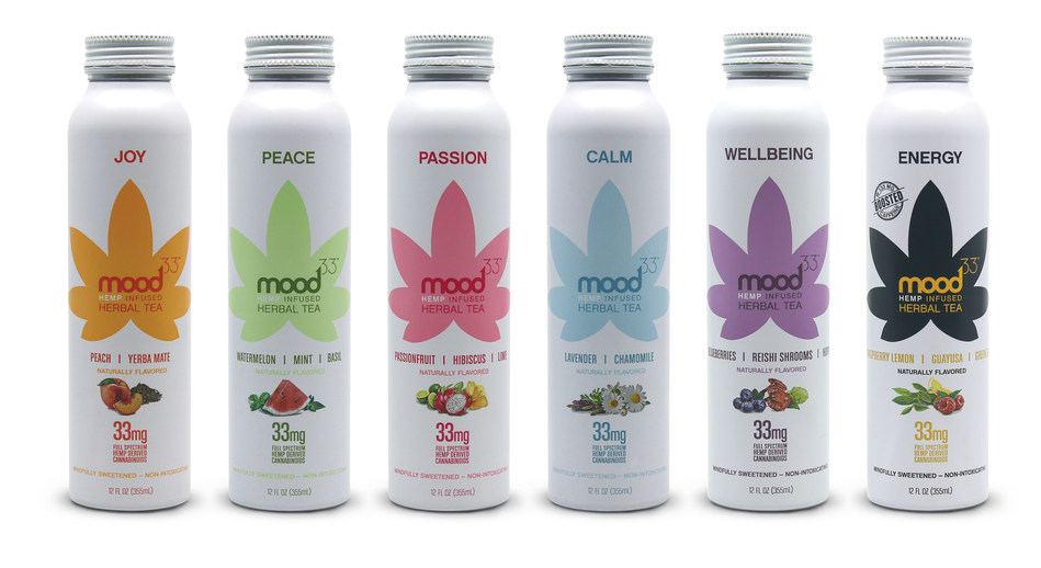 mood33 Launches New Line of Hemp-Infused Herbal Teas