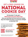 Great American Cookies® to Offer Sweet Reward on National Cookie Day (Dec. 4)
