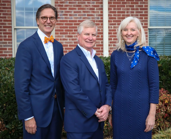 Fellow owners George Wallace (left) and Jim Wallace (middle) announced Stallings' new role to CBWW staff and agents in a celebratory meeting at the franchise's Bearden office on Nov. 20, 2019.
