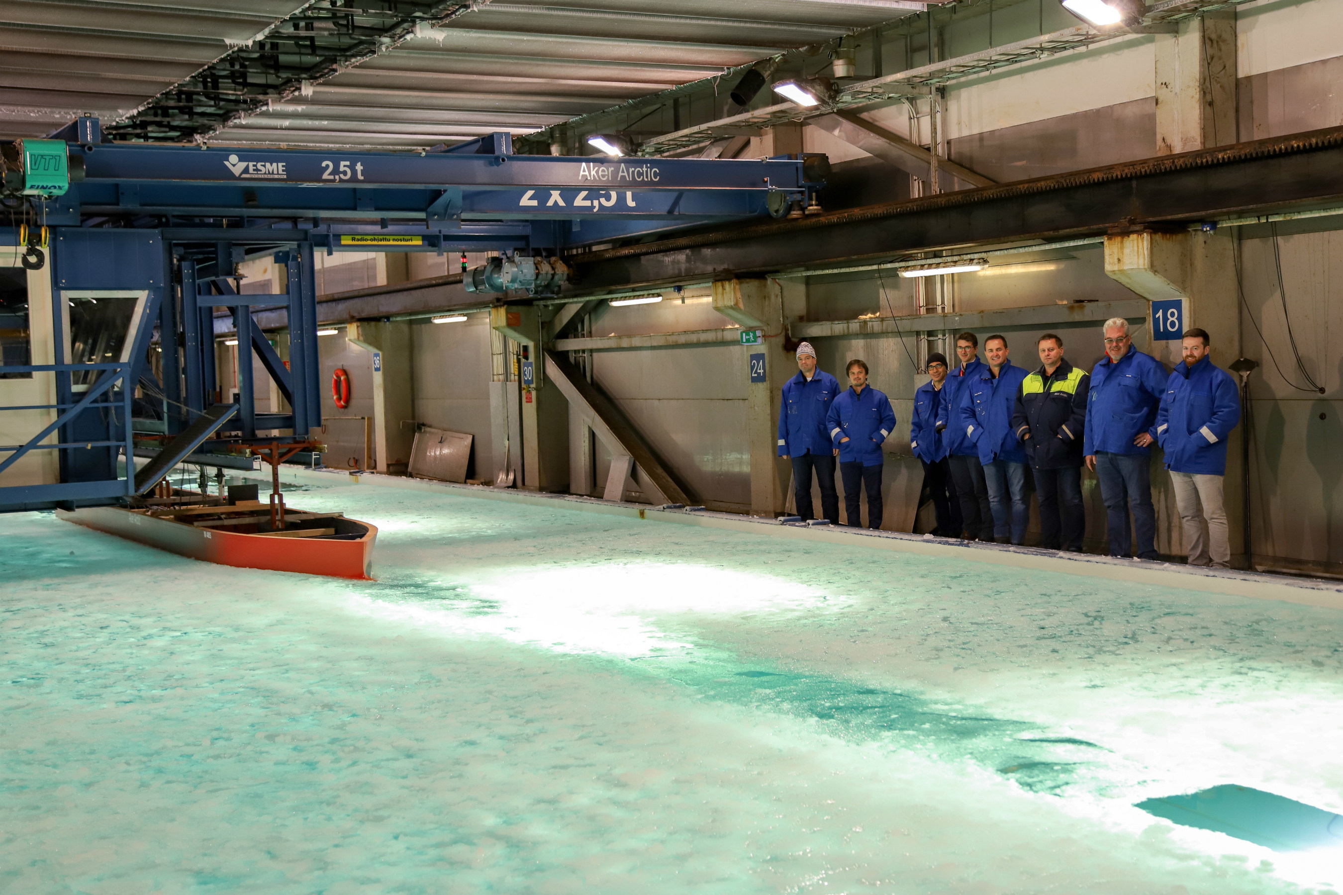 Seabourn Completes Ice Model Hull Test For New Expedition Ship Seabourn Venture  at Aker Arctic in Finland