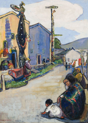 Emily Carr's magnificent canvas Street, Alert Bay sold for $2.4 million at the Heffel auction (CNW Group/Heffel Fine Art Auction House)