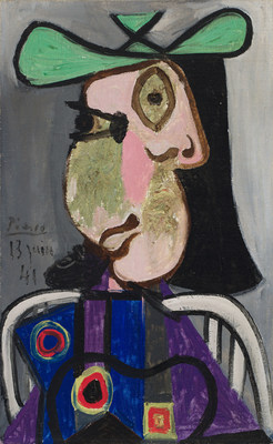 Heffel's fall auction was led by Pablo Picasso's iconic Femme au chapeau, which sold for $9.1 million (CNW Group/Heffel Fine Art Auction House)
