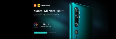 Xiaomi launched Mi Note 10 and the Mi Note 10 Pro, in Madrid, Spain, on November 6. Gearbest was selected to launch online sales that same day.