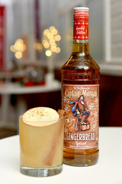 Captain Morgan Celebrates New Gingerbread Spiced With Big Gay Ice Cream with the Sleigh Ride Cider cocktail. Image Credit: Noam Galai/Getty