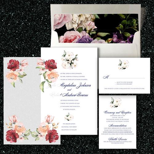 Duo Watercolors Invitation Suite