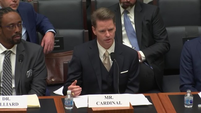 FDX Managing Director Don Cardinal Testifies Before Congress