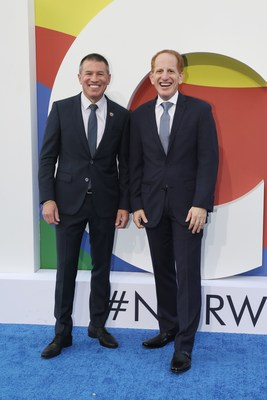 Andy Stuart, president and chief executive officer of Norwegian Cruise Line (left) and Harry Sommer, incoming president and chief executive officer of Norwegian Cruise Line (right)