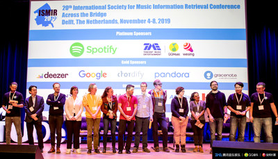QQ Music and WeSing were invited to the 20th ISMIR conference to share their technological advances