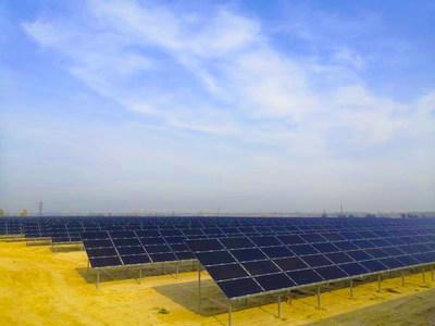 A planta de energia solar de Chernobyl, de 4 MW, com NTOPCon bifacial, (PRNewsfoto/Jolywood (Taizhou) Solar Techno)