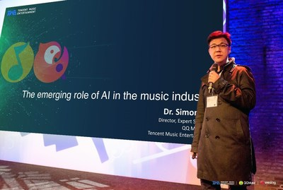 Dr. Simon Lui representing QQ Music and WeSing shared on