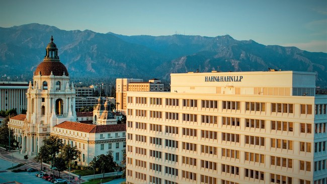 The 120-year-old Hahn & Hahn law firm, LLP, is based in Pasadena.