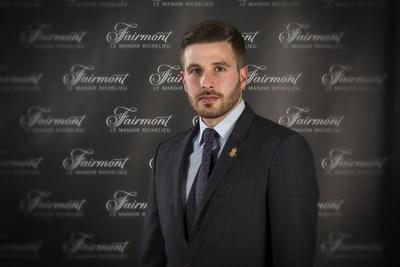 Lukas Vallée-Valletta, diplômé de l'ITHQ et directeur de réception au Fairmont Le Manoir Richelieu, finaliste dans la catégorie « Réussite professionnelle » des Worldwide Hospitality School Awards (Groupe CNW/Institut de tourisme et d'hôtellerie du Québec)