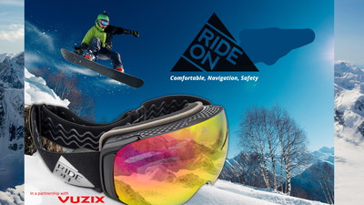 Ride-On Smart Ski Goggles in a partnership with Vuzix