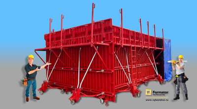 "The Russian Construction "" Red Machine"" for super fast housing construction."