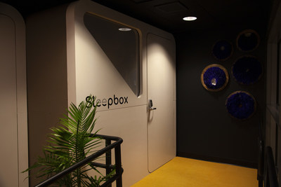 ADA Accessible Sleepbox Lounge pod.