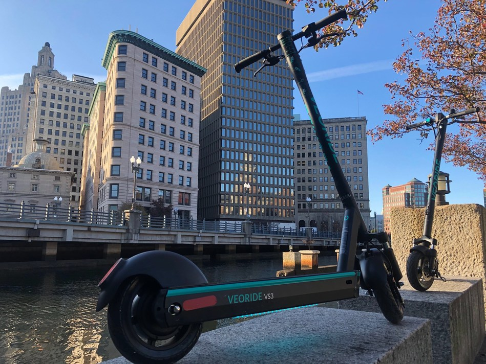 VeoRide's industry leading shared e-scooters hit the streets of Providence to offer sustainable last mile transportation option