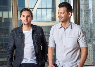 Frame.io co-founders John Traver and Emery Wells (right to left)