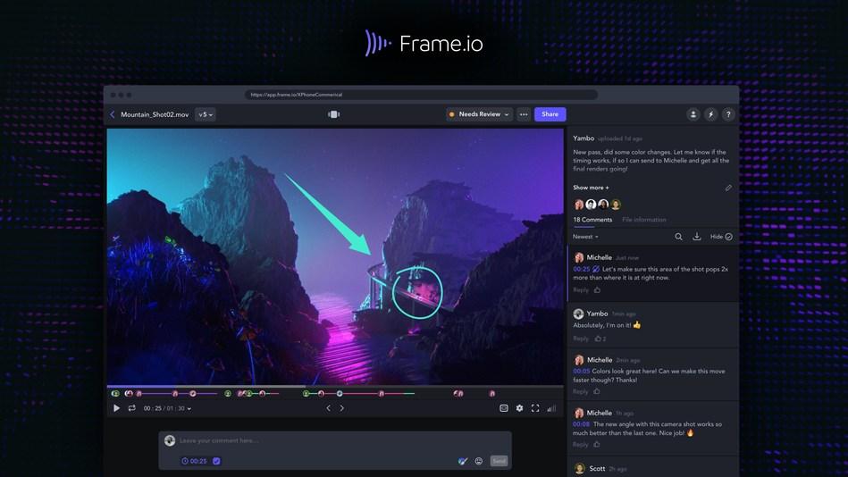 Frame.io Web Player Page
