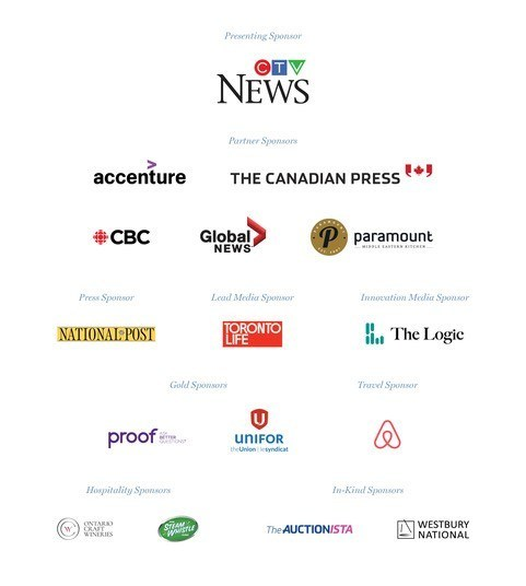 Sponsors Night for Rights 2019 (CNW Group/Journalists for Human Rights (JHR))