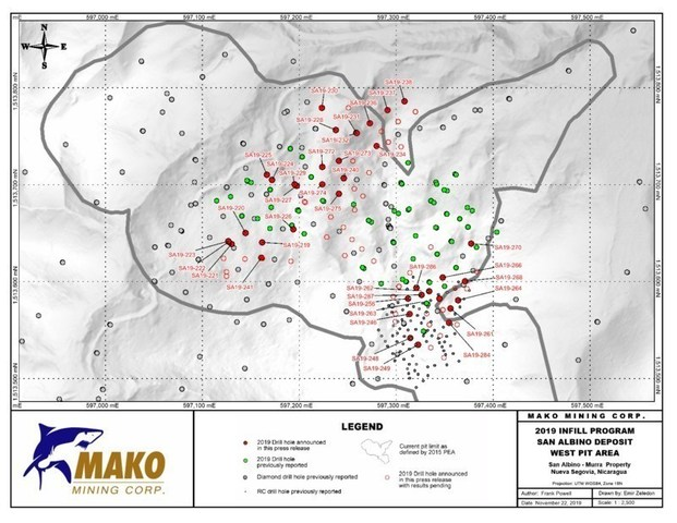 Infill Drill Program - West Pit Area (CNW Group/Mako Mining Corp.)