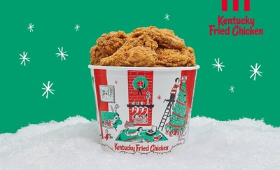 KFC is getting into the holiday spirit with new limited-edition holiday buckets, available in restaurants nationwide starting November 25.