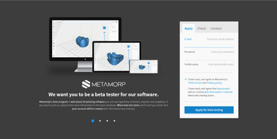 Metamorp, a 3D printing software company, searches for beta testers