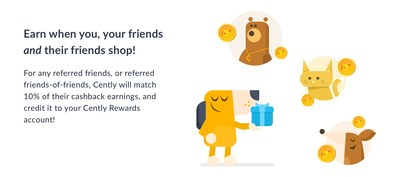 Cently Rewards allows members to earn even more when friends and friends of friends shop!