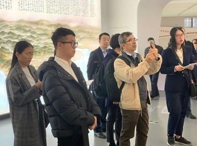 Southeast Asian reporters visit Ningbo City Exhibition Hall on Nov. 21.