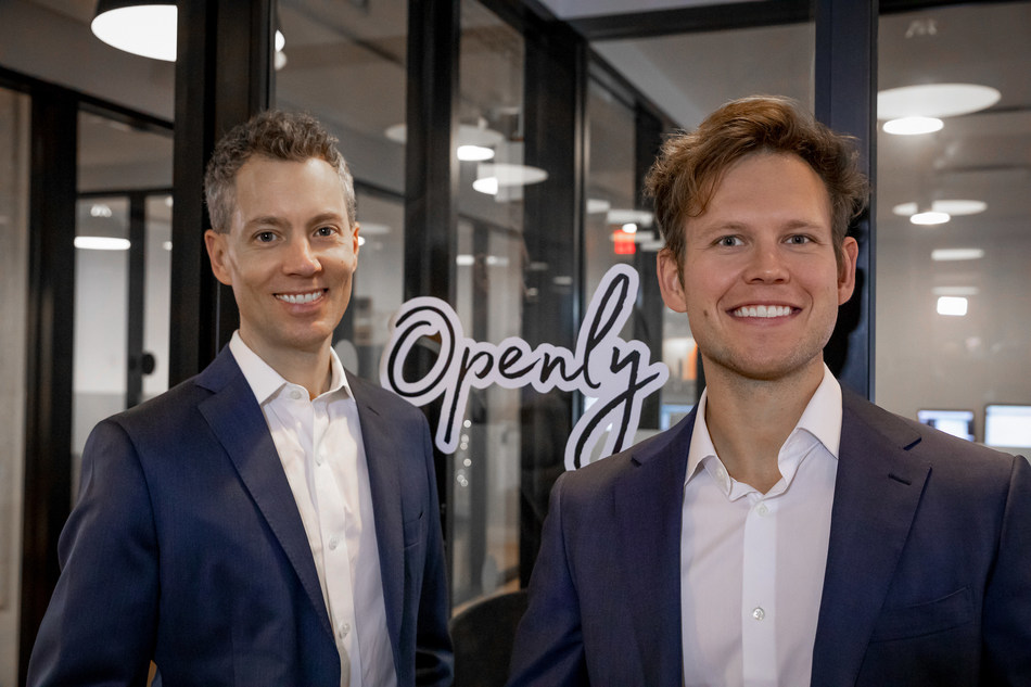 Ty Harris (left) and Matt Wielbut (right), founders of Openly