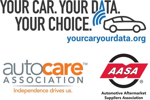 Logos for Your Car. Your Data. Your Choice., Auto Care Association, and the Automotive Aftermarket Suppliers Association.