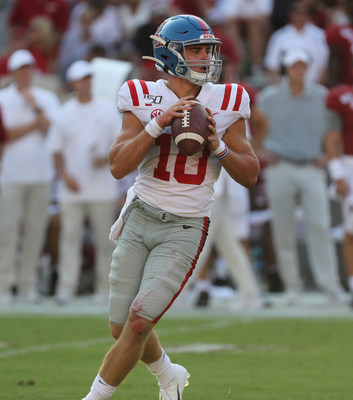 University of Mississippi freshman quarterback John Rhys Plumlee is one of 10 finalists for the 2019 C Spire Conerly Trophy, which is awarded annually to the top college football player in the Magnolia State. The winner will be named on Dec. 1. - photo courtesy of Ole Miss Athletic Department