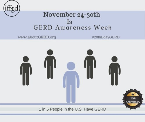 GERD Awareness Week is November 24-30, 2019
