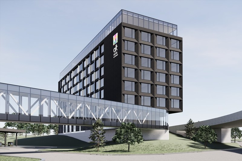 Rendering of the Alt Hotel Ottawa Airport. (CNW Group/Ottawa International Airport Authority)