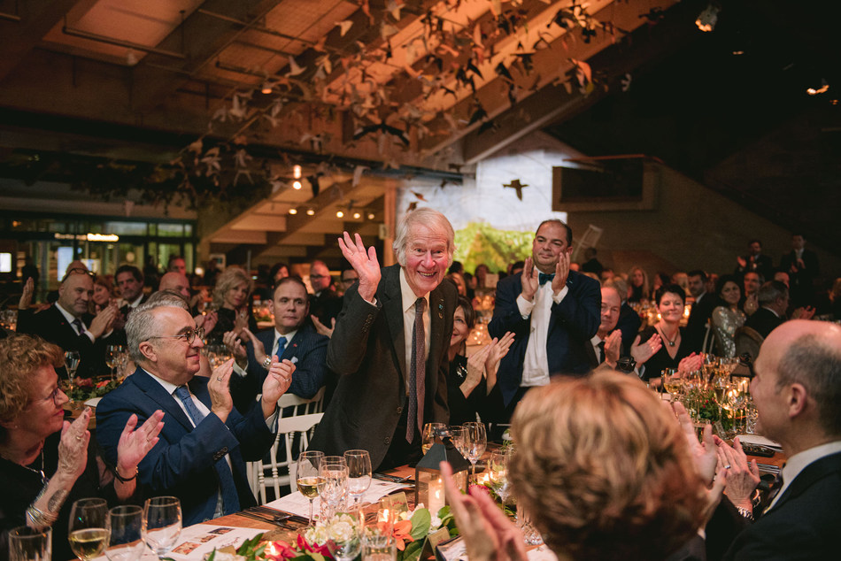 Monsieur Roland Lepage lors du Grand Banquet de la Fondation du Musée de la civilisation, 15 novembre 2019. Crédit: Ludovic Gauthier (Groupe CNW/Musée de la civilisation)