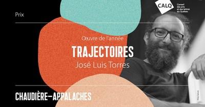 José Luis Torres, lauréat du prix Oeuvre de l'année en Chaudière-Appalaches. Crédit : Guy Samson (Groupe CNW/Conseil des arts et des lettres du Québec)