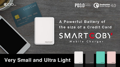 "The World's Smallest & Lightest Power Bank ""SMARTCOBY"""