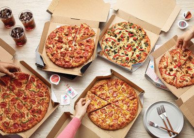 Domino's is offering 50 percent off menu-priced pizzas when customers order online Dec. 2-8.