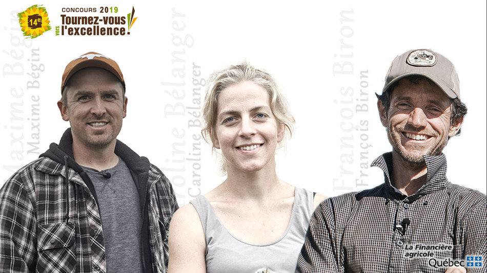 Les lauréats du 14e concours Tournez-vous vers l'excellence! (Groupe CNW/La Financière agricole du Québec)