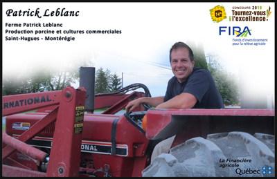 Un Montérégien se démarque! La Bourse du FIRA 2019 est attribuée à M. Patrick Leblanc (Groupe CNW/La Financière agricole du Québec)
