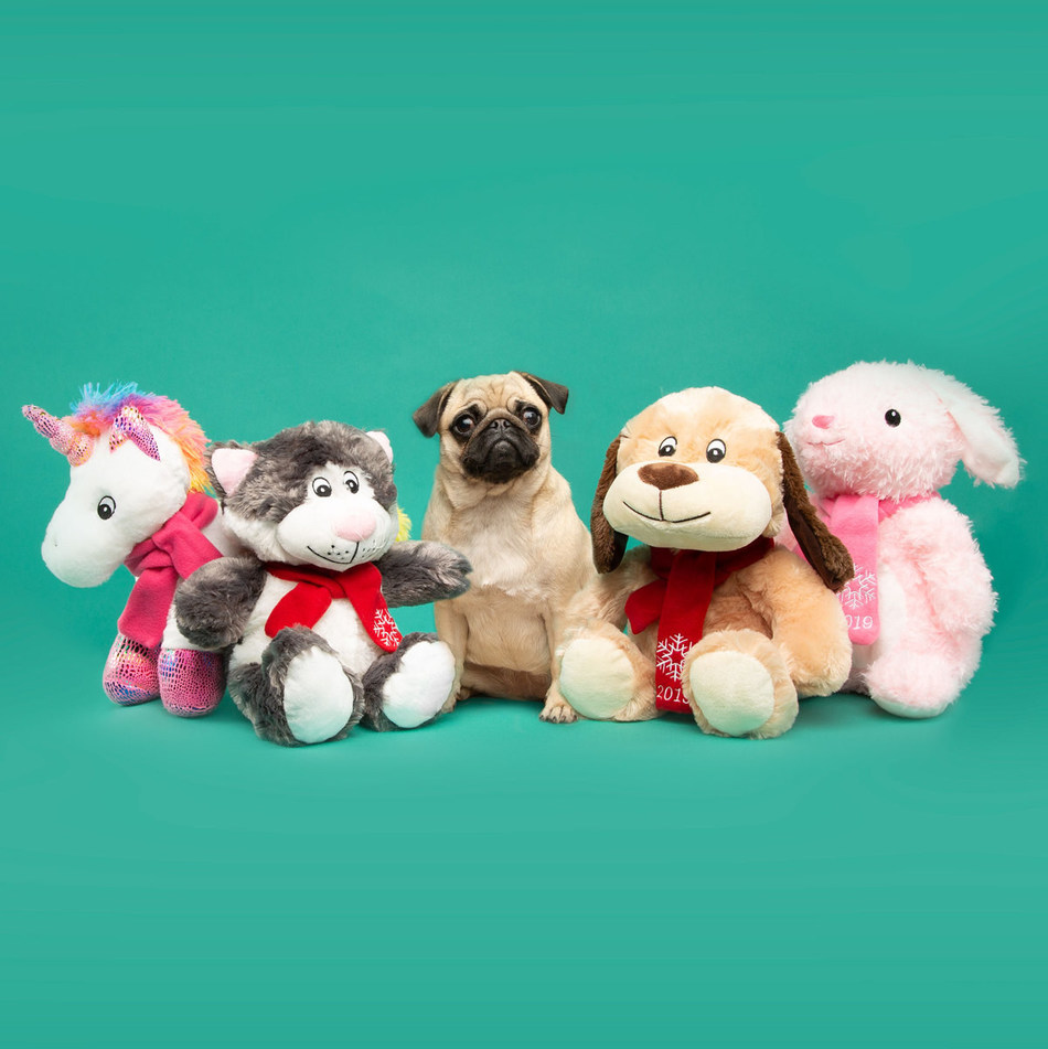This holiday season, shoppers can choose from an adorable plush dog, cat, bunny or unicorn, complete with a squeaker, from PetSmart's Chance & Friends Holiday Philanthropic Collection. For every in-store or online purchase of a plush toy, PetSmart will donate 10% of the sale to PetSmart Charities to fund animal-assisted therapy programs at children's hospitals.