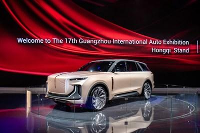 El Hongqi E115 revelado en la 17a Exposición Internacional del Automóvil de Guangzhou (PRNewsfoto/Xinhua Silk Road Information Se)