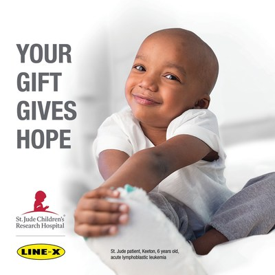 LINE-X – a global leader in powerful protective coatings, renowned spray-on bedliners and first-rate truck accessories – has partnered with St. Jude Children's Research Hospital® for the third consecutive year by renewing its commitment to help end childhood cancer. During the fundraising campaign, the LINE-X Corporation will donate $10 for each bedliner sold with a minimum donation of $100,000 to benefit St. Jude Children's Research Hospital.