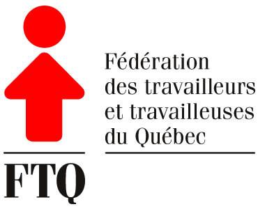 Logo : (FTQ) Fédération des travailleurs et travailleuses du Québec (Groupe CNW/FTQ)