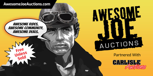 All accepted rides onto Awesome Joe Auctions are FREE TO LIST unless sold.