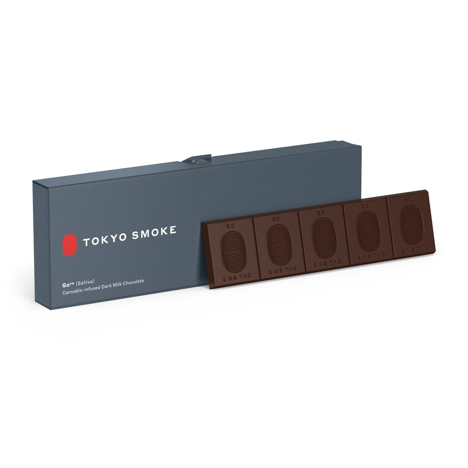 Tokyo Smoke Cannabis Infused 70% Dark Chocolate (CNW Group/Canopy Growth Corporation)