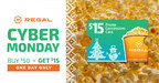 Shop your way into the holidays with Regal's Cyber Monday Offer