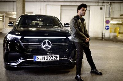 """November marks the beginning of the """"Enjoy Electric."""" campaign, a collaboration with global R&B star The Weeknd that celebrates the market launch of the Mercedes-Benz EQC. (CNW Group/Mercedes-Benz Canada Inc.)"""